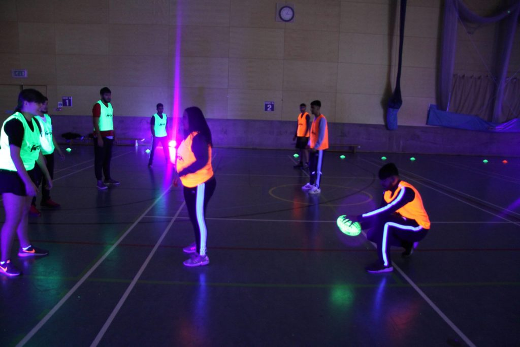 Glow in the dark rugby